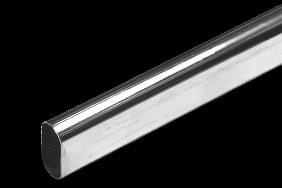 Труба хромированная овальная L=3м толщиной 1мм